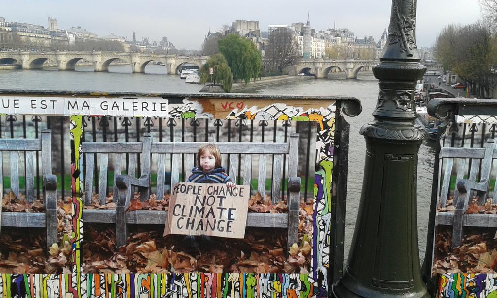 Paris streets are decorated with climate change posters