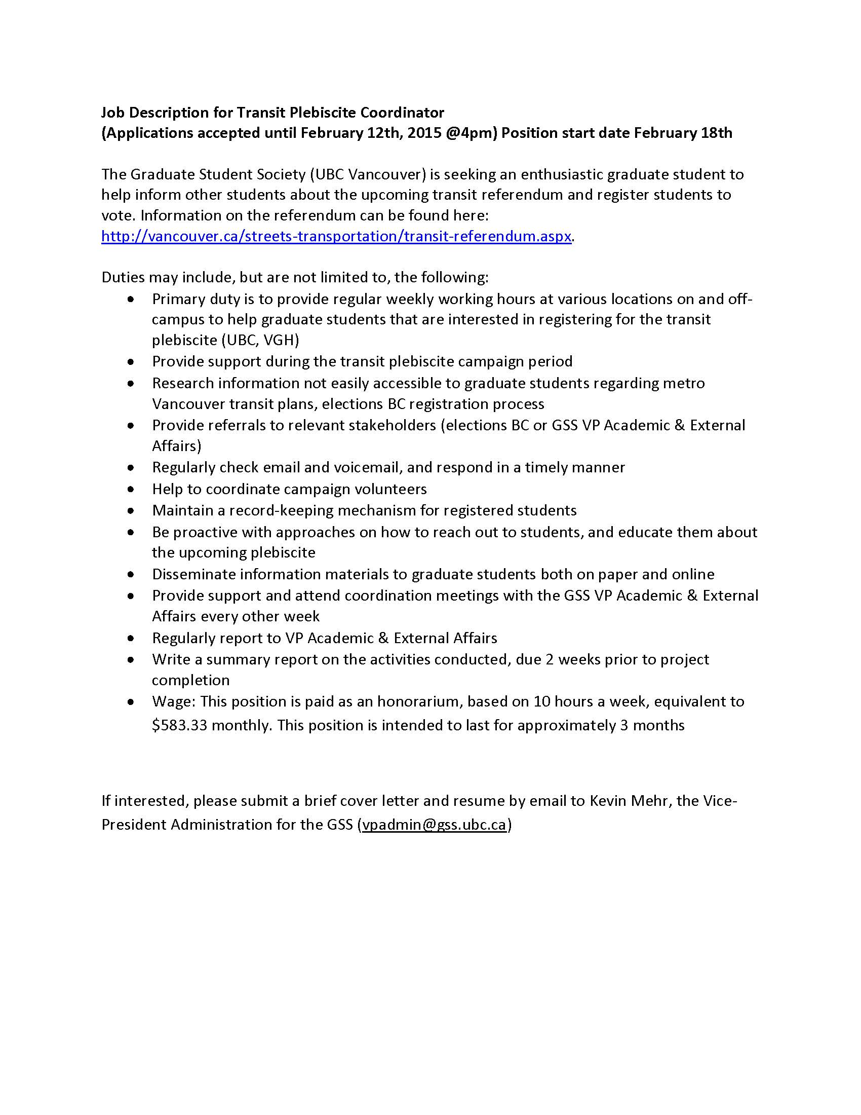 Ubc Cover Letter How To Write A Cover Letter Ubc 2 Resume Cover